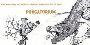 Ausstellung mit drache